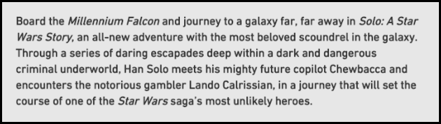 Han Solo Synopsis